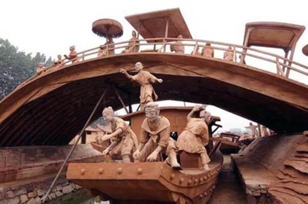 Парк глиняних скульптур в Китаї