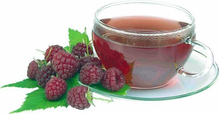 Чай з малини і липового цвіту