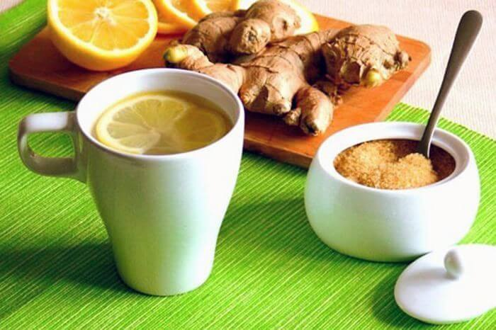 Чай з імбиром та лимоном