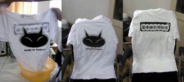 Удивительная упаковка футболки в Китае