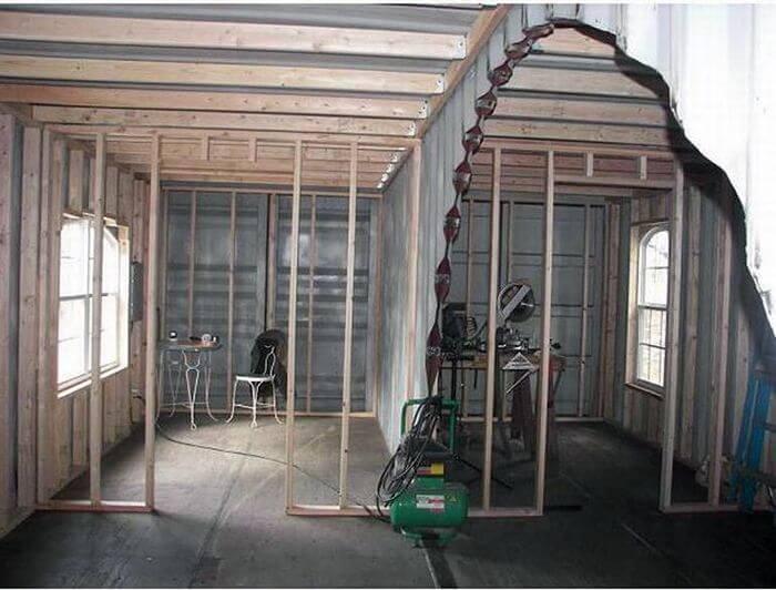 Постройка загородного дома из 2 контейнеров