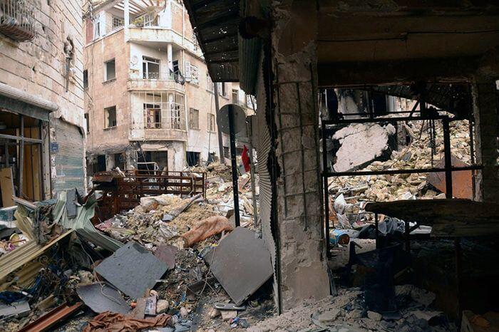 Руины в Сирии