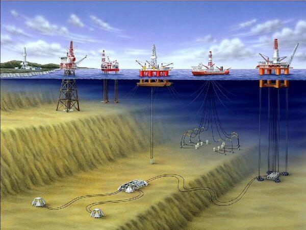 Добыча нефти в водоемах