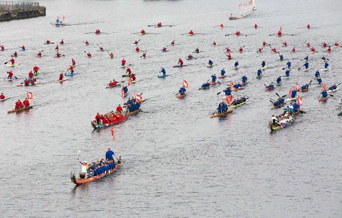 Очень яркие минуты путешествия Олимпийского огня 2014