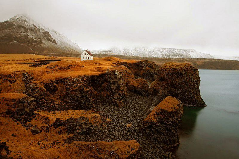 Самотній будинок відлюдника. Ісландія.