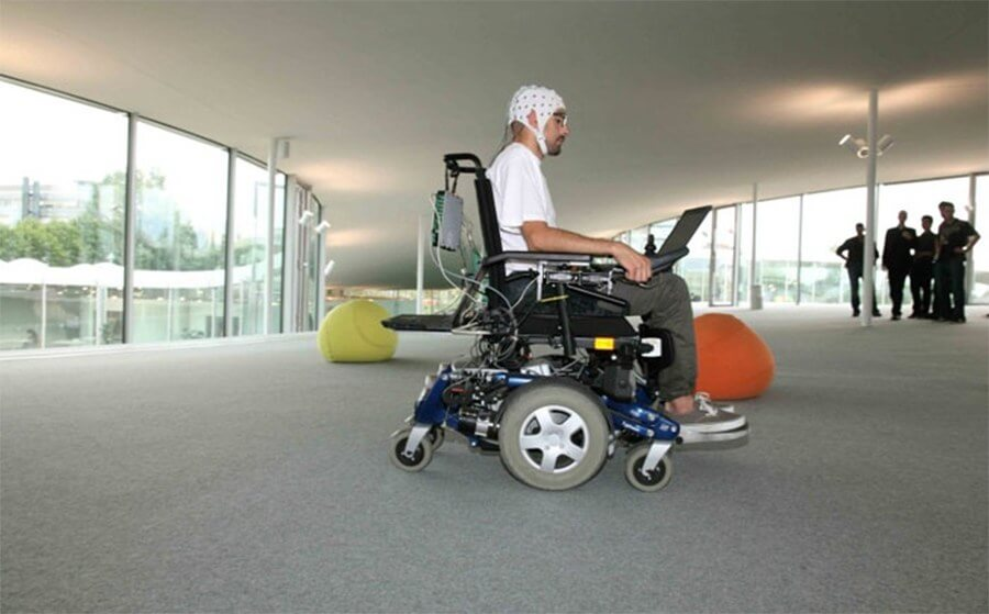 wheelchair controlled by thought