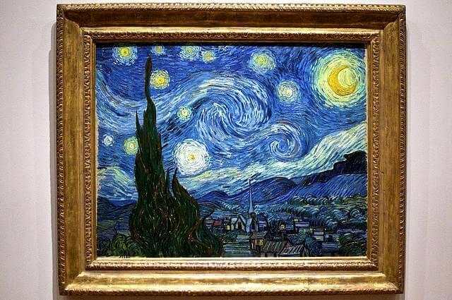 Известная картина «Звездная ночь»