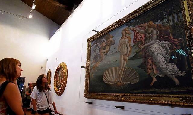 Известная картина «Рождение Венеры»